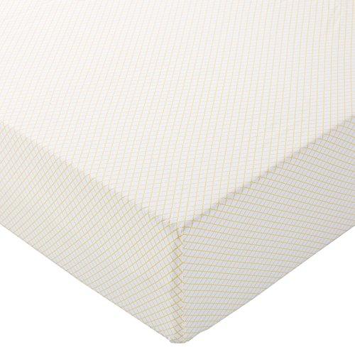Amazon Basics - Lenzuolo con angoli in microfibra, 160 x 200 x 30 cm, Giallo pettine