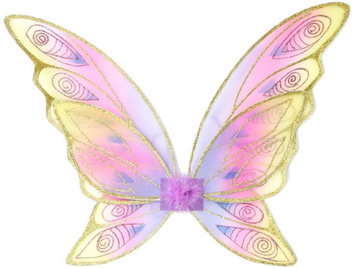 Great Pretenders Glitter Rainbow Wings, (One Size) Dress-Up Play