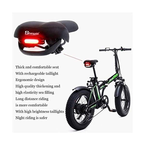 516Ey0FL9sL. SS600  - Elektrofahrrad klappbares für Erwachsene 500W Elektro-Klapprad Berg Schnee E-Bike Rennrad 15Ah 48V Lithium-Batterie 20-Zoll-Fat Tire 7 Variable Speed mit Dual-Scheibenbremsen bis zu 100 Kilometer