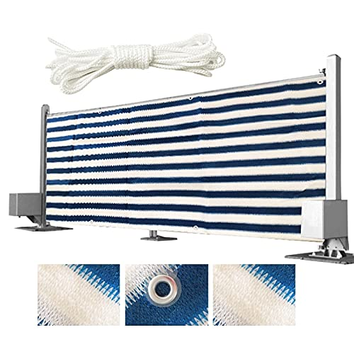 YUDEYU Balcón Patio Valla Pantalla de privacidad Proteccion Solar Red de Sombra con Cuerda Velas de Sombra (Color : Blue and White Strips, Size : 0.9x5m)
