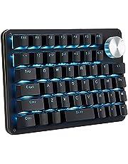 片手キーボード ゲーミングキーボード メカニカルキーボード 最新機能 回転ノブ付け プログラム可能 バックライト カスタマイズ可能 45キー 片手ゲーミングキーボード