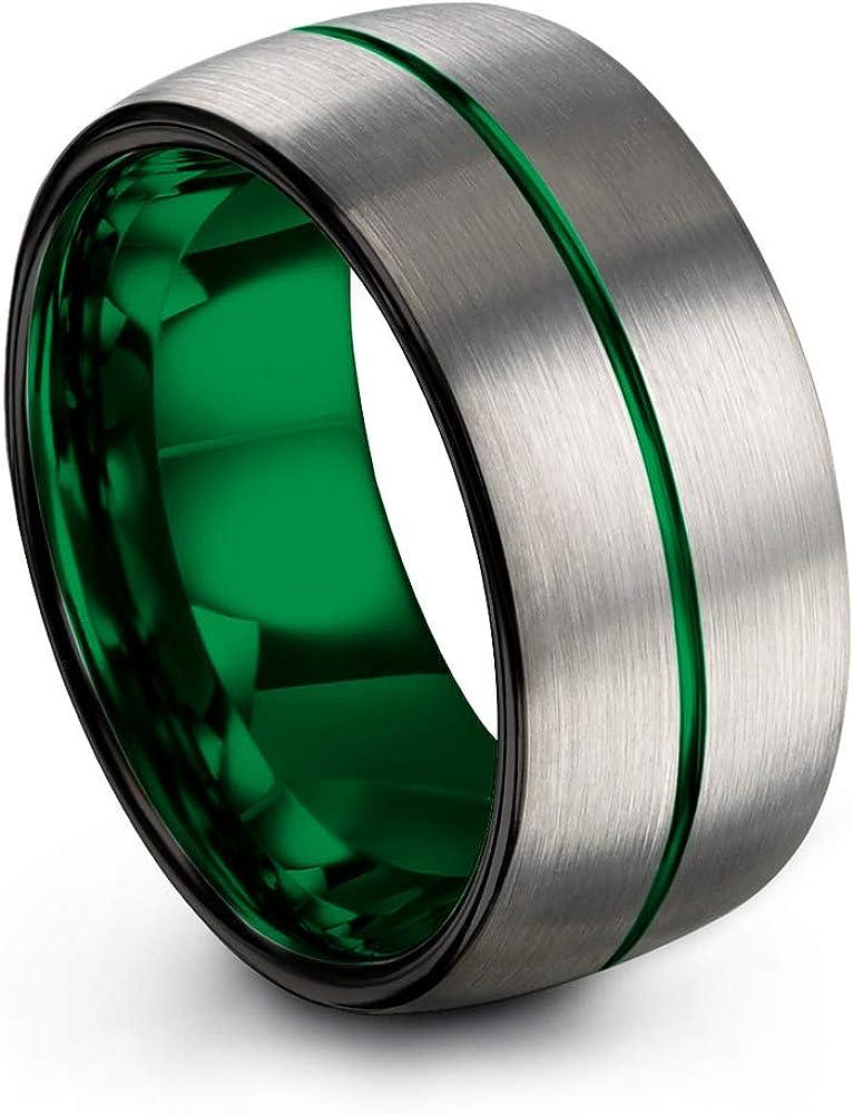 Chroma Color Collection Tungsten Carbide Wedding Band Ring 10mm