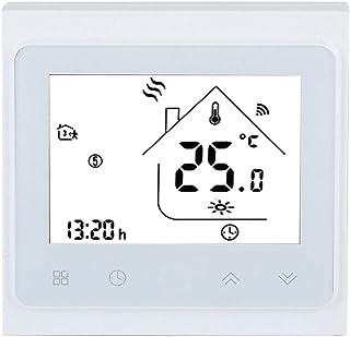 Termostato Inteligente, Termostato de Calefacción WiFi con Pantalla Táctil LCD, Programación de Asistencia Control de Apli...