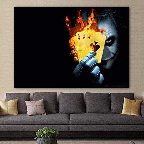 ZZFJF Rompecabezas de 1000 piezas para adultos Rompecabezas Burning Poker Póster de la película Arte Abstracto Moderno Gran Puzzle Juego 50 x 75 cm