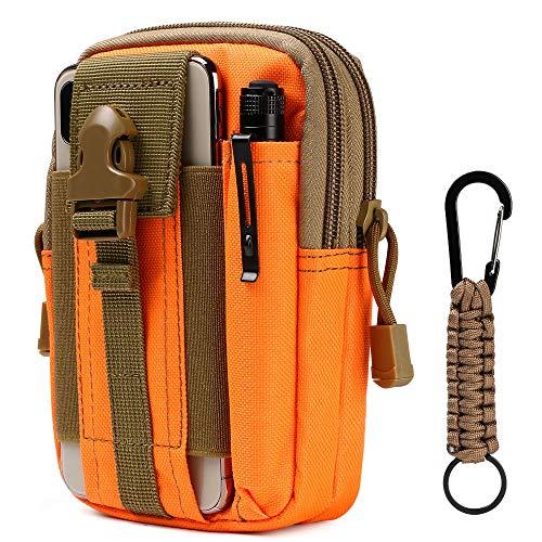 flintronic Taktische Hüfttaschen, Militär Kompakt Gürteltasche Multifunktional Bauchtasche Tasche Beutel für Camping Wandern Radfahren Klettern und Reisen Mit Karabiner