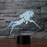 3D Tauch - sport Optische Illusions-Lampen, Tolle 7 Farbwechsel Acryl berühren Tabelle...