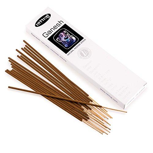 Nitiraj Platinum Ganesh commercio equo e solidale bastoncini di incenso Masala 25g–fertilità–abbondanza–salute–benessere–Comunicazione–Manifestation–preghiera