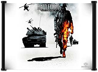 happy apple anime poster Battlefield 2 Bad Company Game Fabric Wall Scroll Poster (21) Inches WP]