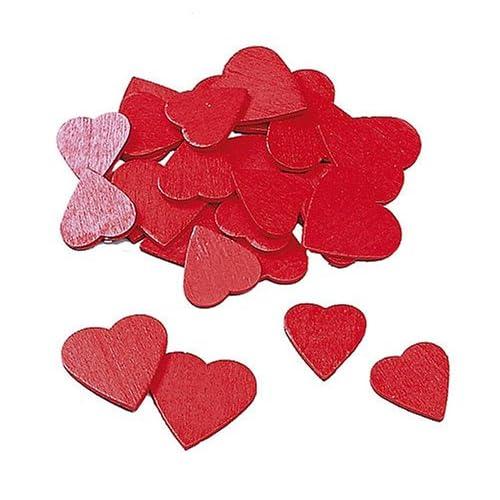 KnorrPrandell 8729530 - Cuori, legno, 18/23 mm, 40 Pezzi, Colore Rosso