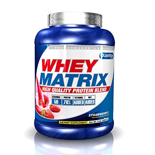 Quamtrax Whey Matrix Sabor Fresa - 2267 gr ✅