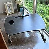 Table D'ordinateur Pliante avec Porte-Gobelet, Table De Jeu dans La Chambre Et Le...