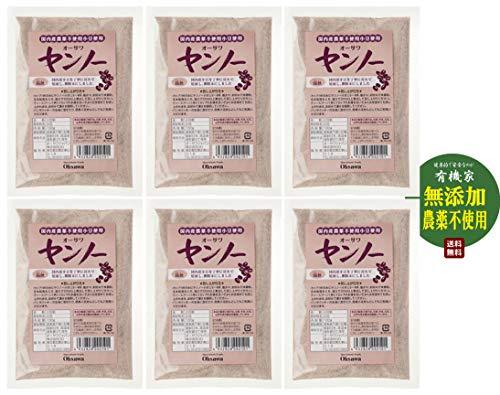 無添加 国内産 小豆粉末 ヤンノー 100g×6個 ★ ネコポス★ 国内産 農薬不使用 小豆 100% ・香ばしく、ほのかな甘み