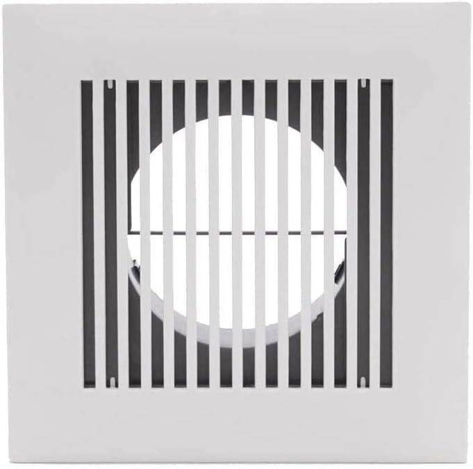LIRONGXILY Extractor Cocina, Extractor de Baño 4 Pulgadas de diámetro Rejilla de Ventilación Ajustable Cuadrado de la lumbrera del ABS for Entrada de Aire Parrilla Cubierta Blanca Ventilador