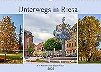 Unterwegs in Riesa (Wandkalender 2022 DIN A2 quer): Fotografischer Spaziergang durch Riesa (Monatskalender, 14 Seiten )