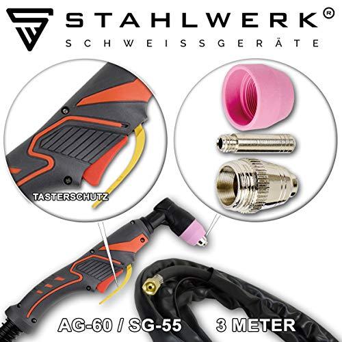 STAHLWERK CT550 ST – kompaktes WIG/MMA Schweißgerät mit Plasmaschneider bis 12mm, 200 Ampere WIG/MMA + 50 Ampere CUT, 7 Jahre Garantie, weiß - 6