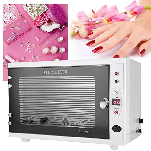 15L Double Layers UV Ozone Sterilizer Cabinet, Nail Beauty Salon Spa Sterilizer with LED Display for Towel, Manicure Tattooing Tools, Baby Products and Medical Supplies