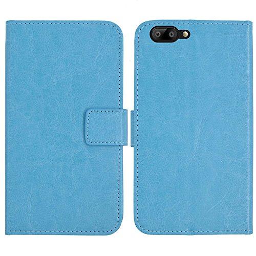 TienJueShi Azul Book Style Funcion de Soporte Funda Caso Carcasa Proteccion Cuero Skin Case Cover Etui para Maze Alpha 4G LTE 6 Inch