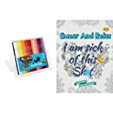 I am sick of this st (Swear and Relax #1): Swear Word Coloring Book (Volume 1) and Prismacolor Scholar Colored Pencils, Set of 48 Assorted Colors