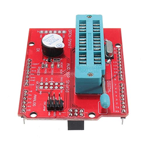 Extension Shield Module 1Pcs AVR ISP Bootloader Shield Burning Programmer for Atmega328P with Buzzer and Indicator for UNO R3 OPEN-Car Accessories for Arduino - products that work with official boards