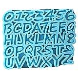 Molde de Resina epoxi de Alfabeto Molde de Silicona de fundición con número de Letras inglesas Molde de Resina epoxi de Alfabeto