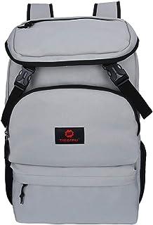 Travel Laptop Backpack Unisex Retro Waterproof Backpack 16 Inch School Waterproof Backpack QYSZYG (Color : Silver)