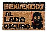 KOKO DOORMATS felpudos Entrada casa Originales, Fibra de Coco y PVC, Felpudo Exterior Bienvenido al Lado Oscuro, 40x60x1.5 cm | Alfombra Entrada casa Exterior | Felpudos Divertidos para Puerta