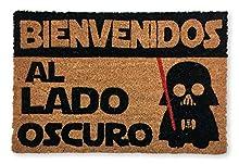 KOKO DOORMATS felpudos Entrada casa Originales, Fibra de Coco y PVC, Felpudo Exterior Bienvenido al Lado Oscuro, 40x60x1.5 cm   Alfombra Entrada casa Exterior   Felpudos Divertidos para Puerta