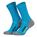 Piarini 2 Paar Coolmax Wandersocken Outdoorsocken Funktionssocken lang petrol 43-46