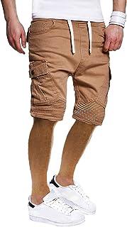 GILIF Men's Casual Clothing Men's Shorts, 2019 New Summer Fashion Men's Sport Lashing Casual Loose Sweatpants DrawstringPersonality Leisure Multi-Pocket Loose Comfortable