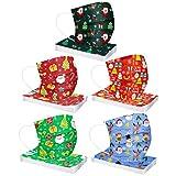 Asalinao Packung mit 50 Unisex-Bandanas, atmungsaktives mundschutz weihnachtsmotiv,mundschutz Kinder Weihnachten,mundschutz mit Motiv,mundschutz mit Tieren