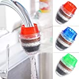 3 Pack Faucet Mount Filters,Faucet Water Filter Purifier Kitchen Tap Filtration Activated Carbon Removes Chlorine Fluoride Heavy Metals Hard Water for Home Kitchen Bathroom…