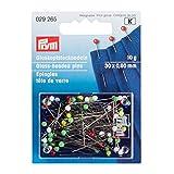 PRYM 32562 Boite à épingles tête de Verre 10g, Combinaison, Multicolore, 30 x 0,60 mm