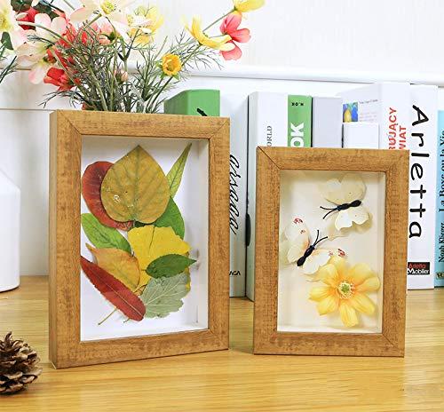 SONGHJ Dreidimensionale kreative DIY Fotorahmen 6 7 Zoll getrocknete Blume Rahmen Pflanze Schmetterling Probe Dekoration verdickt Bilderrahmen Holz Farbe 10 Zoll / 20,3 x 25,4 cm