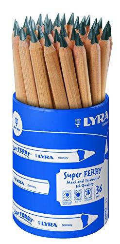 LYRA Super Ferby, Graphite Runddose mit 36, Graphitstiften, Graphit