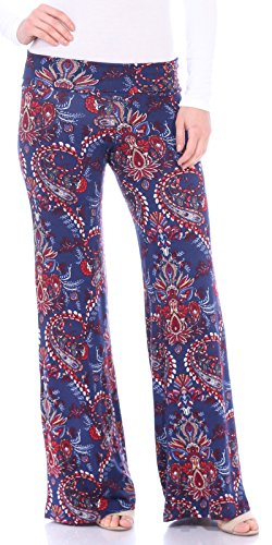 Popana Womens Casual Print Palazzo Pants Plus Size Made in USA Large ST47 Paisley