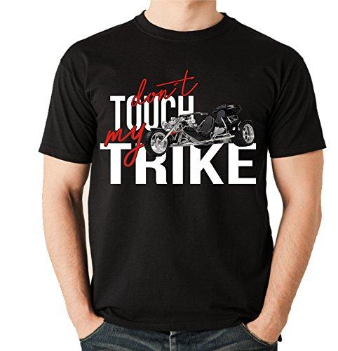 Siviwonder Unisex T-Shirt - Trike Dreirad - Dont Touch My - Motorrad Fun schwarz M