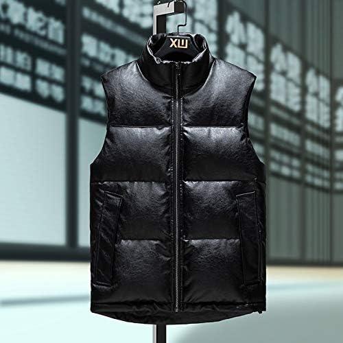 LYLY Vest Women Autumn Winter Men's Vest Warm Thick Vest Men Sleeveless Jacket Male Waistcoat Warm Jackets Coat Clothes Vest Warm (Color : 8508 Black, Size : 4XL)