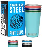 Stainless Steel Pint Cups 16oz:...