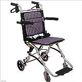 MODYL Silla De Ruedas De Viaje Ligero Plegable De Ancianos Discapacitado Pequeño Portátil Pequeña Rueda Simple Trolley