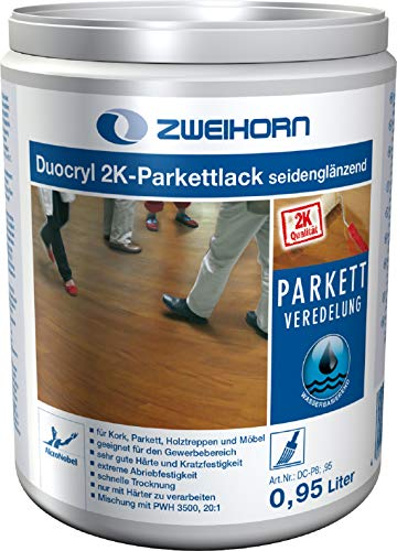 Zweihorn Duocryl 2K-Parkettlack DC-P 8 seidenglänzend (0,94 Liter)