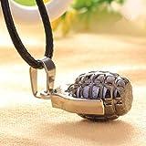 N/A Halskette für Jungen, modisch, aus Metall, Granat, mit Anhänger für Herrenschmuck