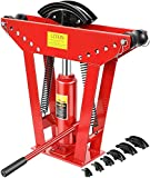 12 Ton Exhaust Pipe Bender 180 Degree Bending 6 dies (1/2', 3/4', 2', 1', 1-1/4', 1-1/2'),Pipe Metal Steel Cast Iron Exhaust Elbow