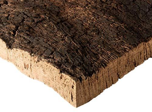 Kork Rinde | Kork Platte | Kork Stücke aus Naturkork der Korkeiche | 30 x 40 x 3 cm | unbehandelt & natürlich | Rohware der Korkrinde | thermisch desinfiziert | Ideal für Terrarium | für Nager & Vögel
