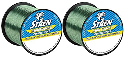 Stren High Impact 12 Pounds / 1000 Yards Lo-Vis Green Monofilament Fishing Line