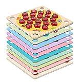 LadyBug's Garden Memory Game, Scarab Memory Ajedrez, durable y seguro de madera, juego a juego con 8 tarjetas de doble cara, juguetes de madera para niños y niñas de 3 años en adelante