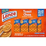 Lance Sandwich Crackers, ToastChee Peanut Butter, 20 Count Box (Pack of 6)