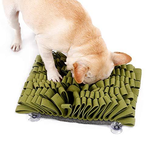 TFENG Schnüffelteppich für Hunde, Hund Riechen Trainieren Intelligenzspielzeug, Geruchsempfindung Trainieren Matte, Schnüffelrasen für Haustier, 4 Farben