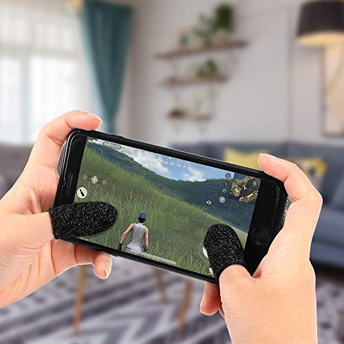 Verdelife PUBG Mobile Game Finger Cover Transpirable Pantalla táctil sensible a prueba de sudor 2 P, Adecuado para Android/IOS Mobile Phones Gamer Gris/Negro/azul