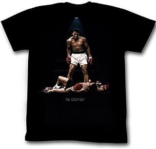 Muhammad Ali T-Shirt The Greatest Over Liston Black Tee, 2XL