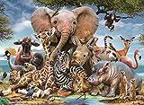 LUOWAN 500 Piezas de Rompecabezas para Adultos, el Festival de Animales de pastizales, Buenas Colecciones y Regalos de cumpleaños